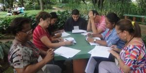 Equipes de trabalho no grupo de catequistas